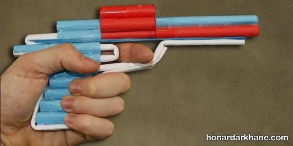 نحوه ساخت تفنگ کاغذی
