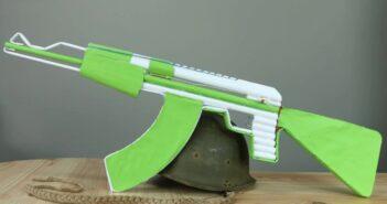 نحوه ساخت تفنگ کاغذی زیبا و ساده