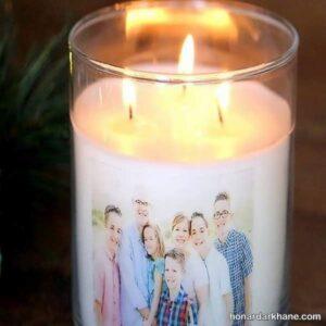 نحوه چاپ عکس روی شمع