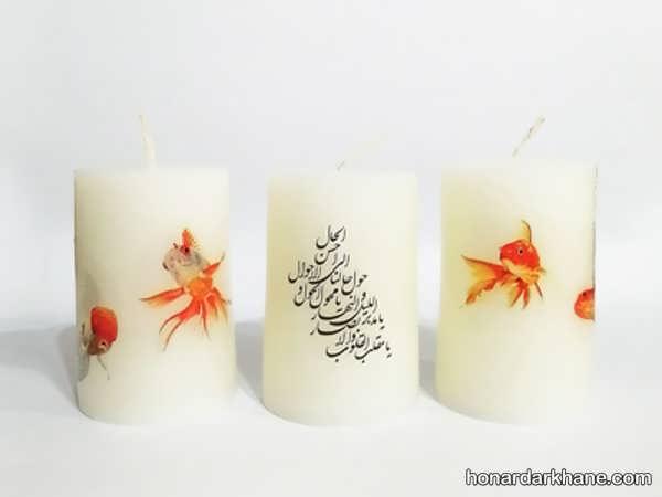 شیوه انتقال تصویر روی شمع در منزل