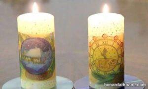 شیوه چاپ تصویر بر روی شمع