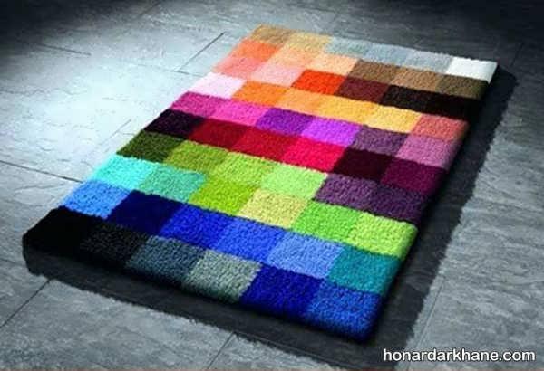 آموختن بافت شبه قالی با کاموا