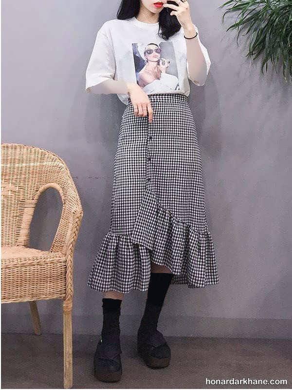 انواع یکدست کردن لباس با دامن بلند