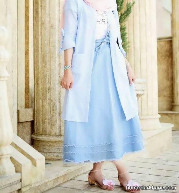 مدل های شیک و خاص هماهنگ کردن لباس با دامن بلند