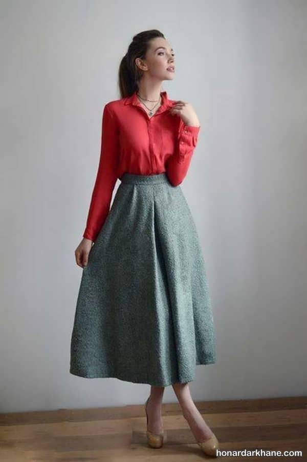 مدل های جدید و خاص ست لباس با دامن بلند