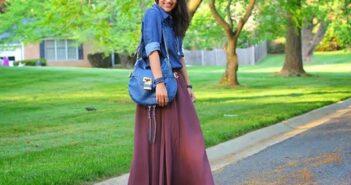 انواع مدل های مختلف ست لباس با دامن بلند