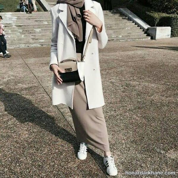 مدل های جذاب و جدید ست لباس با دامن بلند