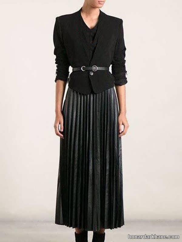 انواع استایل های شیک ست لباس با دامن بلند