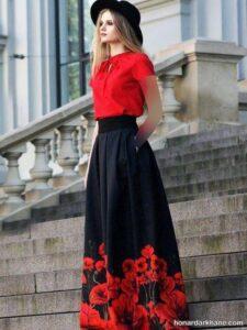 مدل های زیبا و خاص ترکیب بندی لباس با دامن بلند