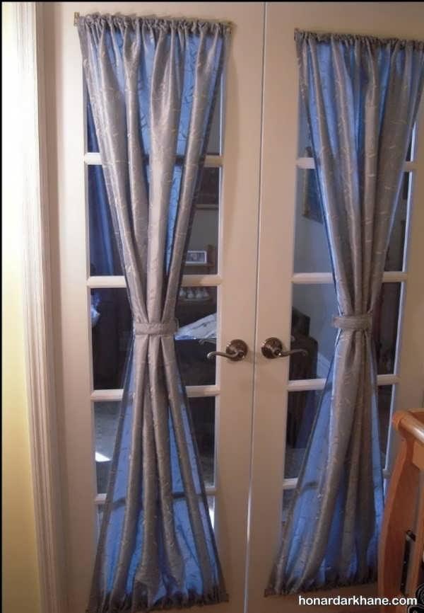 روش دوختن پرده پشت دری شیک و جذاب