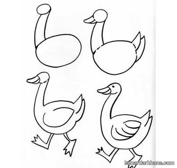 یادگیری نقاشی با الگویی ساده
