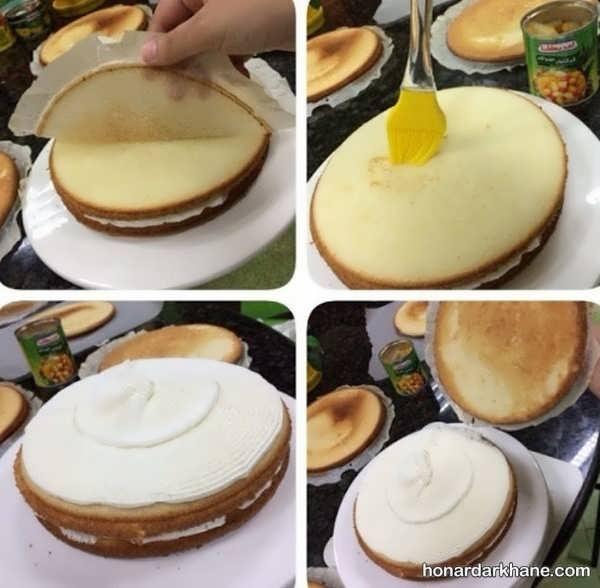 آموزش زدن خامه روی کیک خانگی