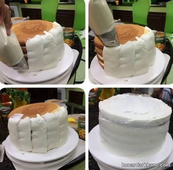 آموزش خامه کشی کیک خانگی