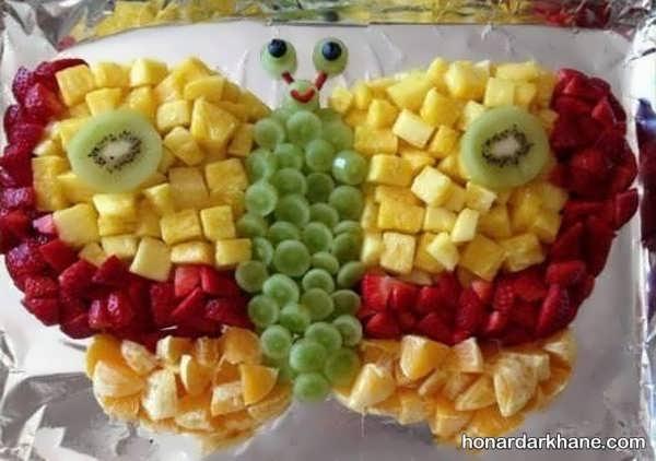مدل های خاص تزیینات سالاد میوه