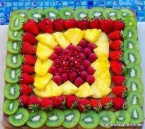 انواع ایده های جالب چیدمان سالاد میوه