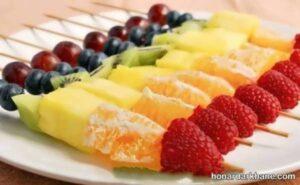 مدل های شیک و جدید تزیین سالاد میوه
