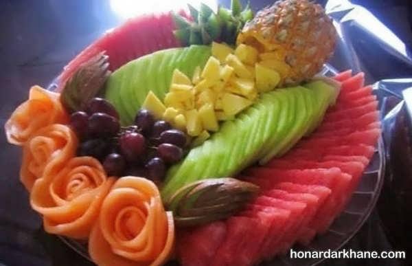 انواع مدل های جالب چیدمان سالاد میوه