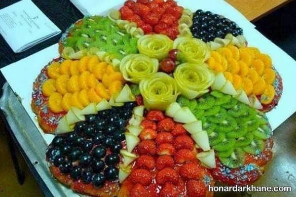 انواع تزیین سالاد میوه با ایده های جالب