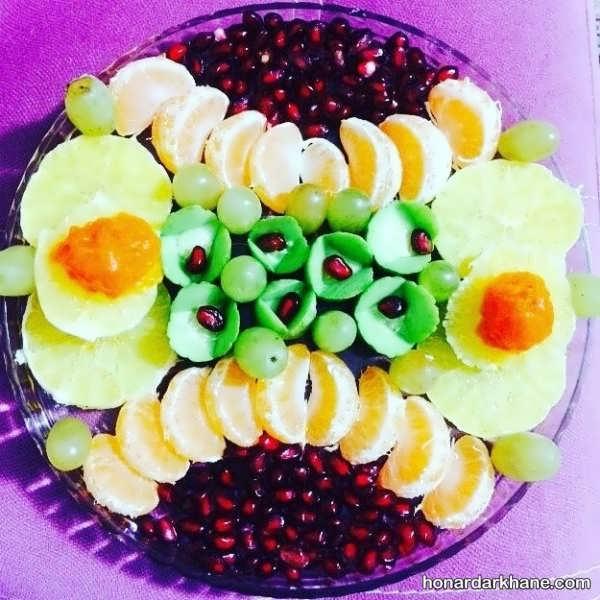 انواع ایده های خلاقانه چیدمان سالاد میوه