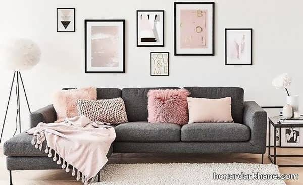 انواع ایده های جالب دیزاین دیوار با تابلو