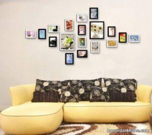 انواع مدل های مختلف تزیین دیوار با تابلو