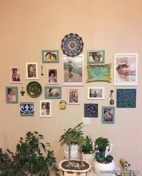 انواع زیبا سازی دیوار با تابلوهای مختلف