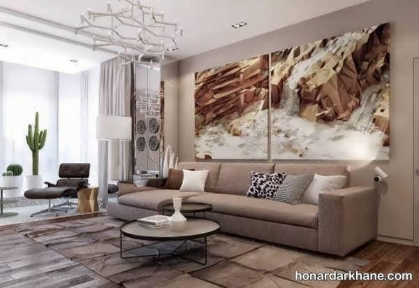مدل های شیک و زیبا دیزاین دیوار با تابلو