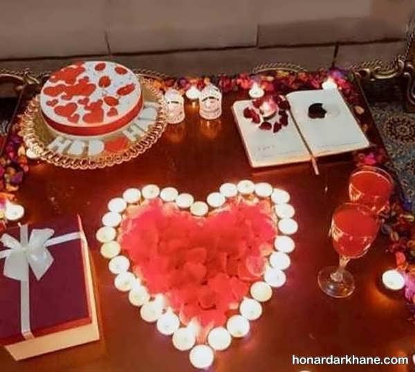 انواع سبک های عاشقانه تزیین شمع برای تولد