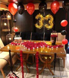 انواع تزیین عاشقانه شمع برای تولد