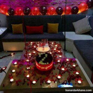 انواع تزیین عاشقانه و رمانتیک شمع برای تولد
