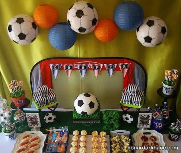 انواع برپایی مراسم تولد با طرح فوتبالی