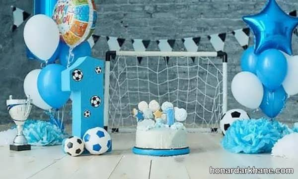 انواع سبک های جدید تزیین تولد با طرح فوتبالی