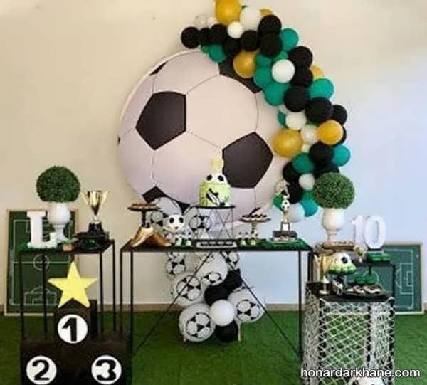 انواع سبک های جذاب تزیین تولد با طرح فوتبالی