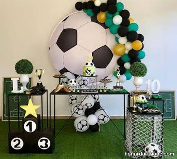 انواع دیزاین زیبا تولد با زمینه فوتبالی