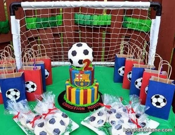 انواع ایده های جدید تزیین تولد با طرح فوتبالی