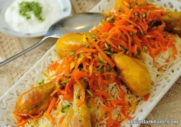 دستور پخت هویج پلو شیرازی