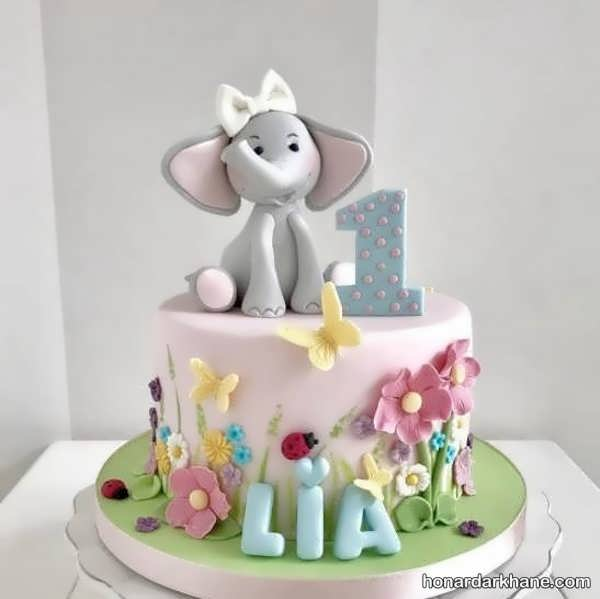 انواع دیزاین تولد با طرح فیل کوچولو