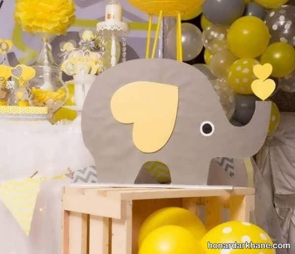 انواع مدل های شیک تزیین تولد با تم فیل کوچولو