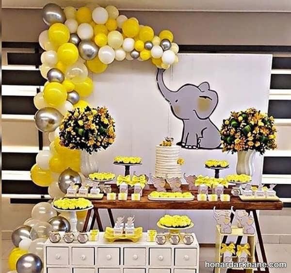 انواع دیزاین خلاقانه تولد با تم فیل کوچک