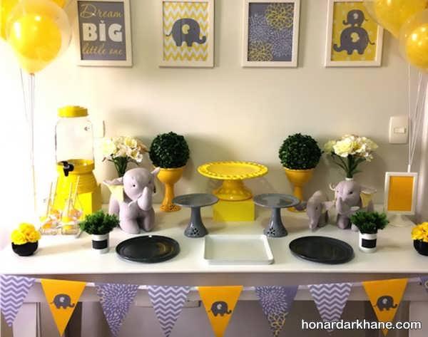 انواع دیزاین زیبا و جالب مراسم تولد با طرح فیل کوچولو