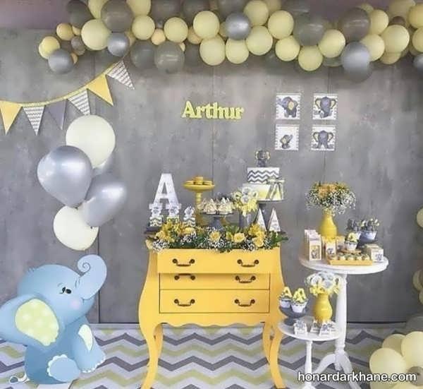 انواع برگزاری جشن تولد با طرح فیل کوچولو
