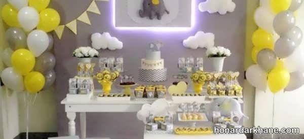 انواع دیزاین شیک مراسم تولد با طرح فیل کوچولو