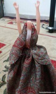 شیوه دوخت لباس عروسک