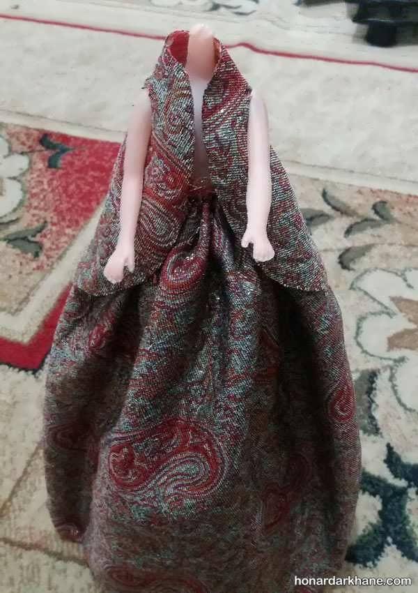 آموزش درست کردن لباس عروسک