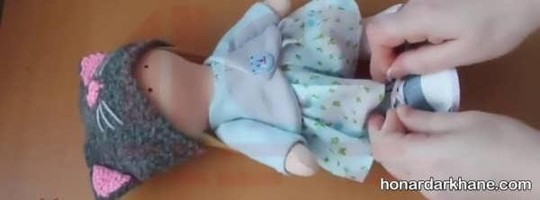 شیوه خیاطی لباس عروسک