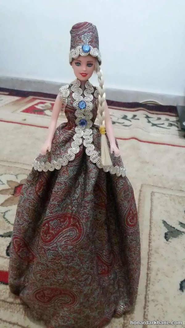 روش دوختن لباس عروسک باربی