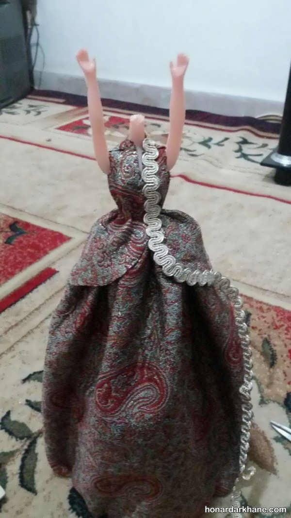 نحوه درست کردن لباس عروسک باربی