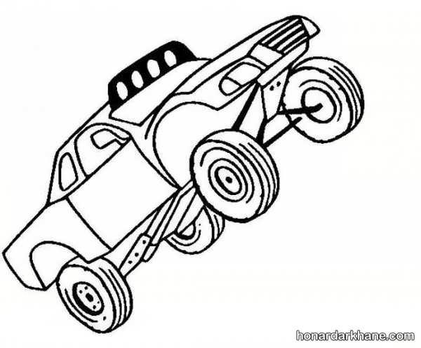 انواع طرح های جذاب نقاشی خودرو