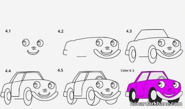 انواع طرح های زیبا نقاشی خودرو