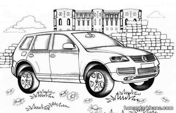 انواع طرح های فانتزی نقاشی اتومبیل